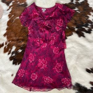 Robbie Bee 100% Silk Two Piece Dress